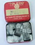THE TOLEDO PIPE THREADING MACHINE CO. NOS. 11-12,  1/8 INCH DIES- 550C