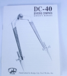 OWNER'S MANUAL FOR THE DC-40 DIVIDING COMPASS - 600AN  -SOLD