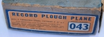 RECORD PLOUGH PLANE NO. 043  -SOLD