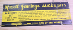 RUSSELL JENNINGS/STANLEY AUGER BIT SET NO. BX-D 32 1/2, NO. 100   -   50G   - SOLD