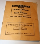 SARGENT & CO. WOOD BOTTOM AND IRON PLANES CATALOGUE, 1910  -sold