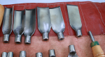 SET OF 12 STRAIGHT CARVING GOUGES-  685D