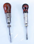TWO EARLY PATENTED RATCHING SCREW DRIVERS -  700GR  -  SOLD