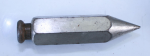 UNMARKED PLUMB BOB W/ 'LTC' STAMP, 5.4 OZ., 3 1/2 INCHES LONG  - 739X