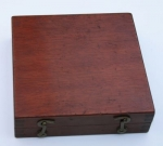KEUFFEL & ESSER CO. CLINOMETER SQUARE IN ORIGINAL MAHOGANY BOX